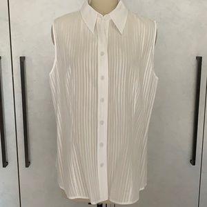 Pamella Roland light weight white cotton blouse 8